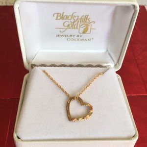 Jewelry - 10k Gold Floating Heart Necklace